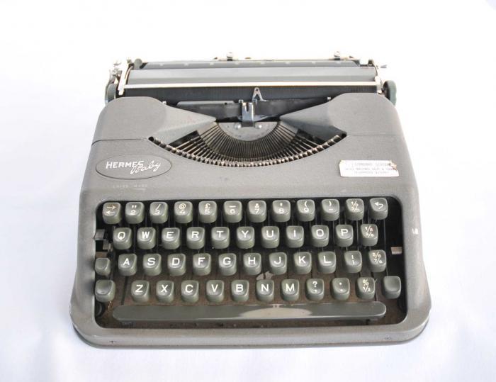 Typewriter. Hermes 'Baby' brand, c. 1950.
