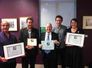 Mick Gentleman MLA with Award winners
