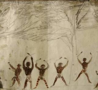 Aboriginal Corroboree painted by George McCrae