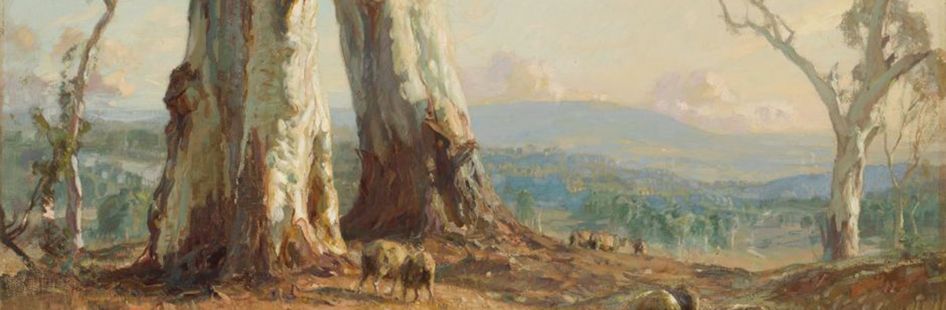 Hans Heysen, 'Morning Light', 1913. Reproduced with the kind permission of the family of Hans Heysen.