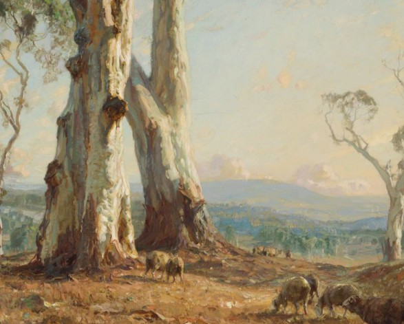 Hans Heysen Morning Light 1913 Reproduced with the kind permission of the family of Hans Heysen