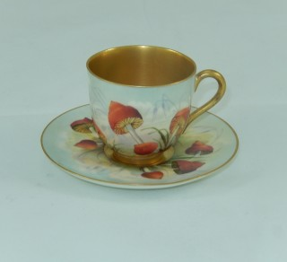Demitasse Cup and Saucer 'Toadstool'