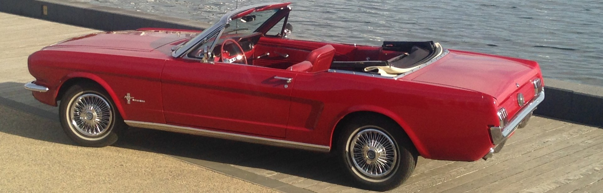 1966 Mustang Convertible on the Geelong Waterfront
