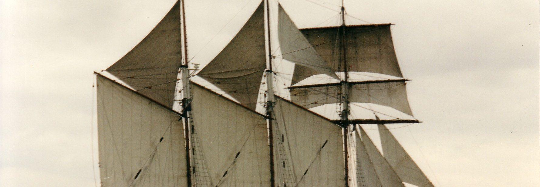 Alma Doepel under sail on Voyage