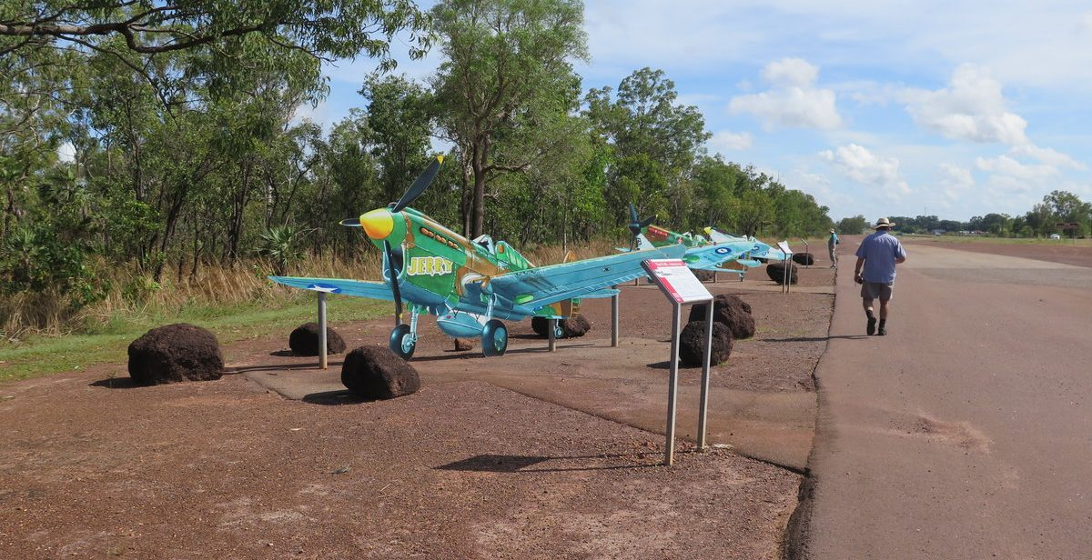 Replica aircraft on the side of Stuart Highway