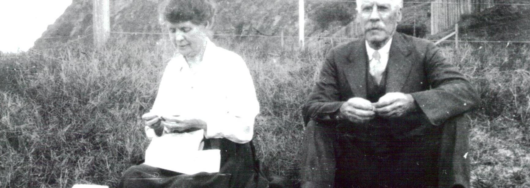 Mr & Mrs Tucker at Newport Beach 1921