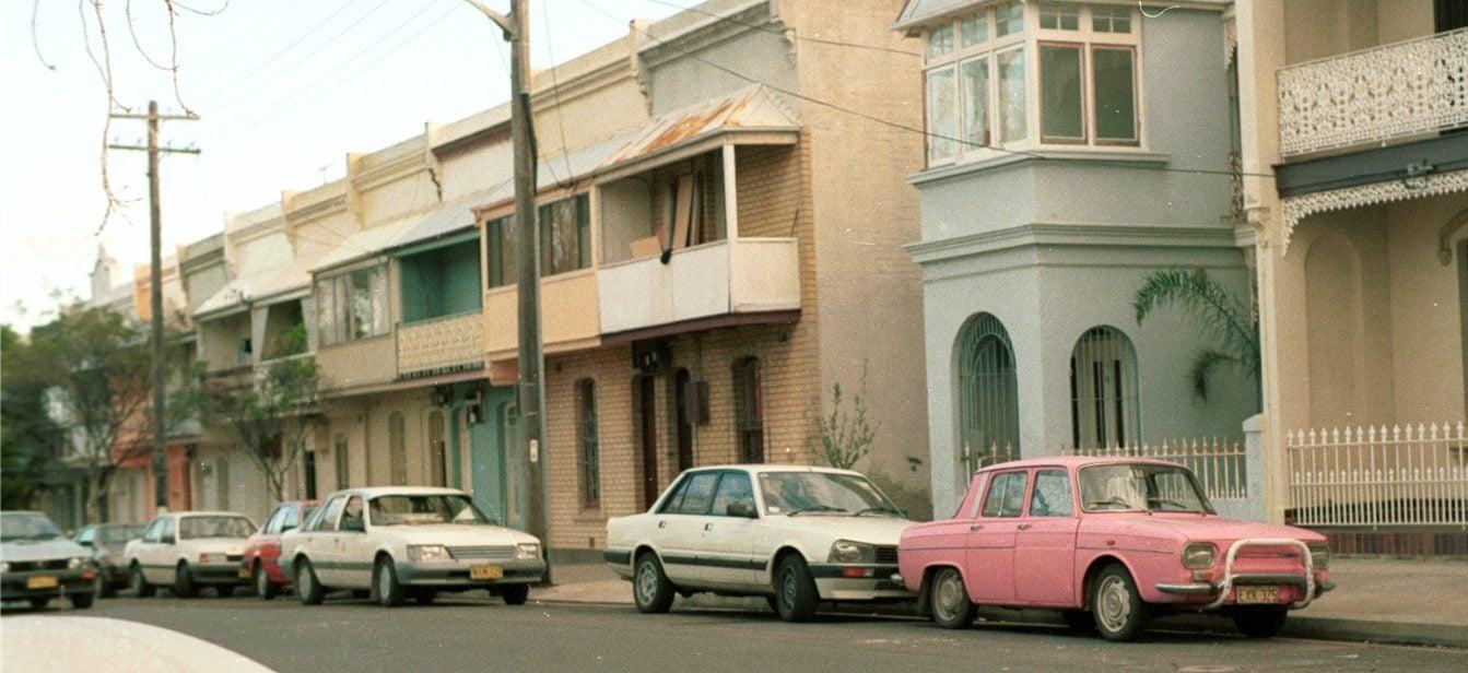 Terrace houses, Greens Road, Paddington, 1988. (City of Sydney Archives, 052735)