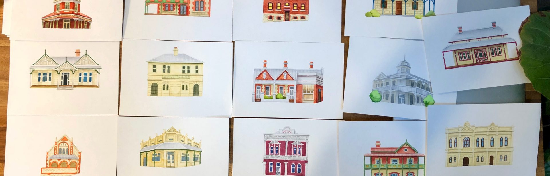 Watercolours by MOJO Design, for East Fremantle Heritage Trail