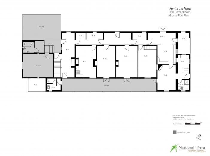 Peninsula Farm Historic House Floor Plans