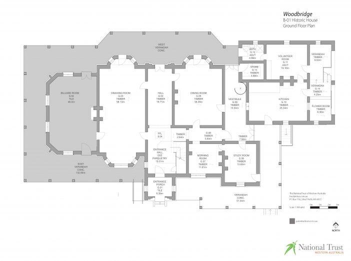 Woodbridge Historic House Ground Floor Plan
