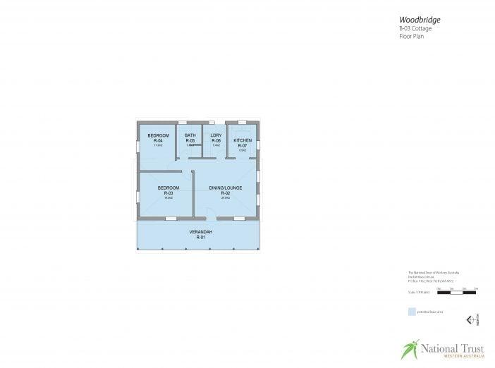 Woodbridge Cottage Floor Plan