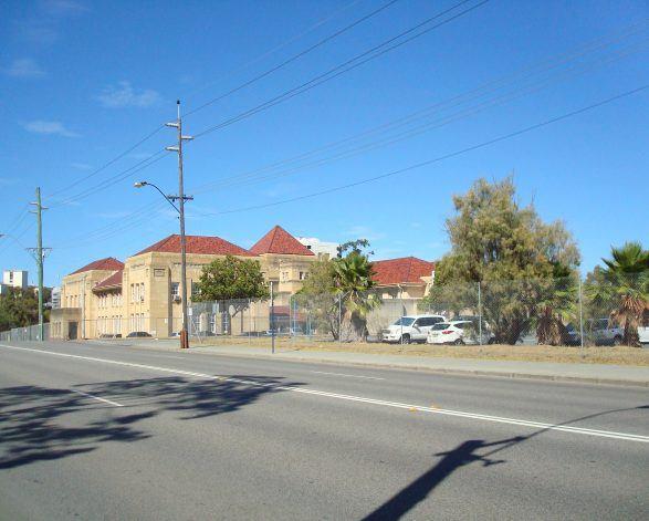 Carpark at Perth Girls School