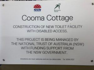 Proposed capital works will increase the number of toilets and an additional disabled facility for our regionally based cultural heritage property Cooma Cottage. These much needed facilities will expand our capacity to programme for our community, our arts organisations and local families as well as facilitate our growth in visitation as identified through our strategic plan research.