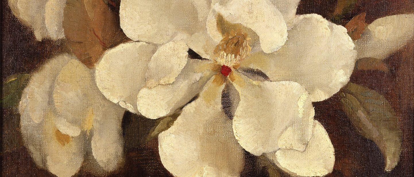 Magnolia Flower, oil, Margaret Coen, 1944