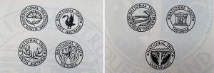 Each state's logo artwork