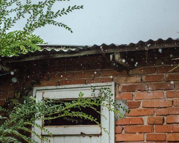 Rain outside home