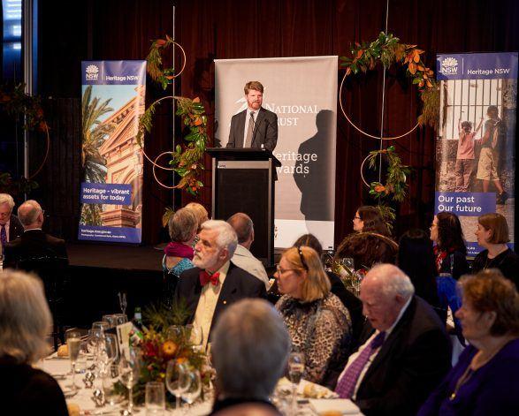 David Burdon at the National Trust Heritage Awards 2021